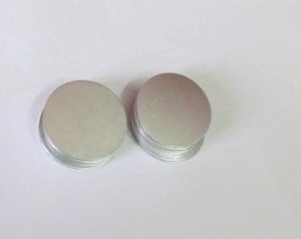 "1 1/4 "" - 20g Premium aluminum -Tumbled Blanks -  metal blanks - Round -5 or more"