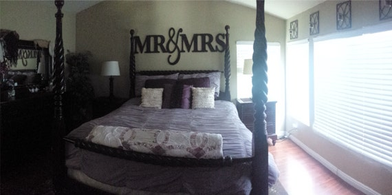 Mr Amp Mrs Wall Sign For Bedroom Decor Mr And Mrs By Zcreatedesign