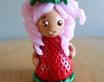 Strawberry Girl Figurine