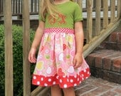Back to School Dress, Monogrammed Dress, Girls Knit Top Dress, Toddler Girls Dress, Fall Dress