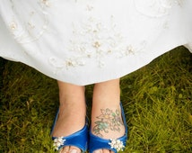 Wedding Shoes - Flat Wedding Shoes - Flats - Pearl And Crystal - Blue Shoes - Choose Over 100 Colors - Shoes - Comfortable Shoes - Parisxox