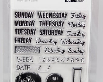 KaiserCraft Weekdays Captured Moments Collection Clear Stamps -- Acrylic -- Weekdays