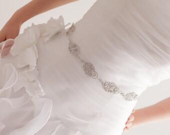 Swarovski Crystal Sash - Rhinestone Belt - Bridal Sash - Bridal Belt - Crystal Belt - Wedding Sash - Prom Sash - Wedding Belt - OLIVIA