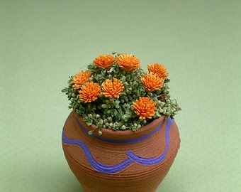 Marigold Flower Kit  for 1/12th scale Dollhouses, Florists and Miniature Gardens