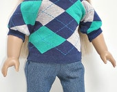 DENIM SKINNY JEANS 18 inch doll clothes
