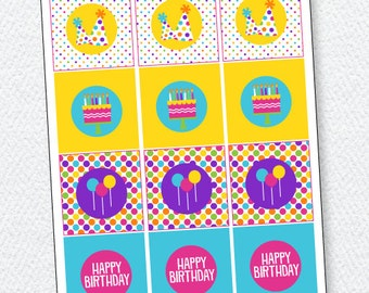 Pretty Polka Dot Party PRINTABLE Tags by Love The Day