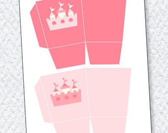Princess Party PRINTABLE Favor Boxes by Love The Day