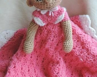 Crochet Pattern Dolly Huggy Lovey Blanket Instant Download PDF Format