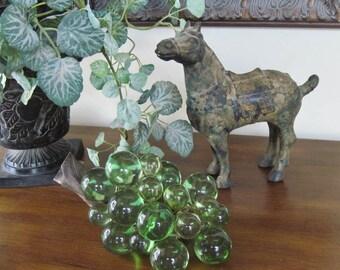 Acrylic Green Grape Cluster on Grape Vine Vintage 1960s Tabletop Home Decor