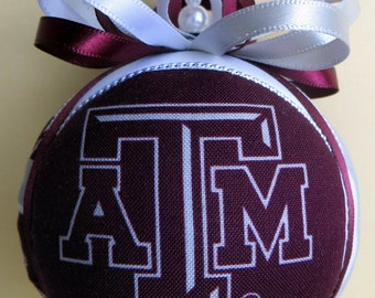 Texas A&M University Christmas Ornament - Made to Order