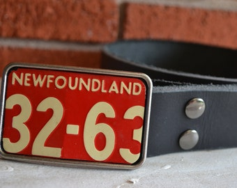 Newfoundland  License Plate Belt Buckle