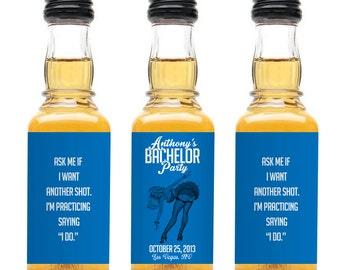Custom Jack Daniels Mini Bottle Labels Bachelor Party Favors Adult Guys Mens Birthday