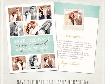 Save the Date Modern Collage Card -  Any Occasion