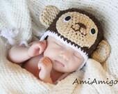 Crochet Little Monkey Hat (Newborn)