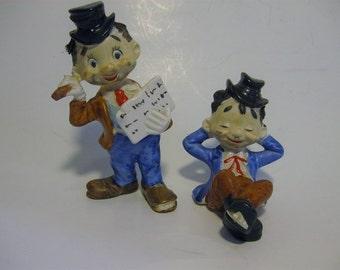 1950's JAPAN HOBO FIGURINES. Hobo Bum Figurine. Humorous Hobo Bum Figurine. Clover Japan Mark