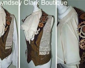 Steampunk neck ruff Victorian inspired cravat/ mens neck piece