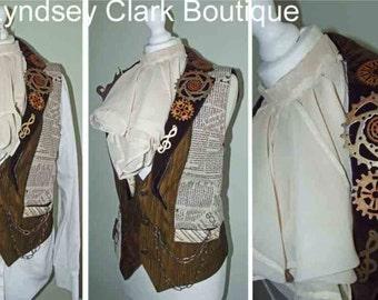 Steampunk neck cravat Victorian inspired cravat/ mens neck piece