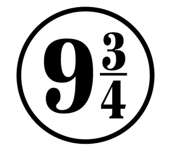 Items Similar To Platform 9 3 4 Vinyl Sticker Harry