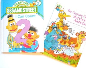 The Sesame Street Storybook Alphabet and On My Way With Sesame Street I Can Count, Vintage Children's Books