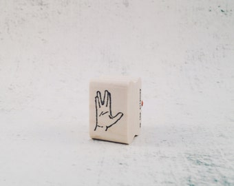 The Spock Hand Vulcan Salute Stationary Stamp