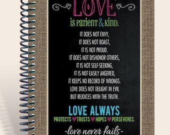 ChalkBoard Love / Personalized Journal