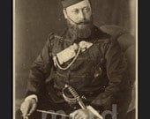 RARE Royalty Photo - Prince of Wales ( King Edward VII ) in Military Uniform / INDIA