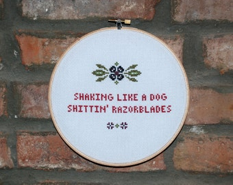 "Alkaline Trio Cross Stitch Lyrics- ""Radio"" from Maybe I'll Catch Fire"