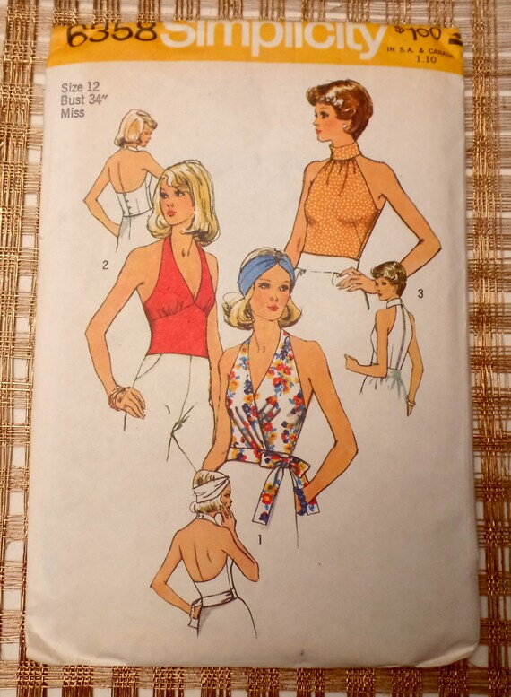 Halter Neck Sewing Pattern Images - origami instructions easy for kids