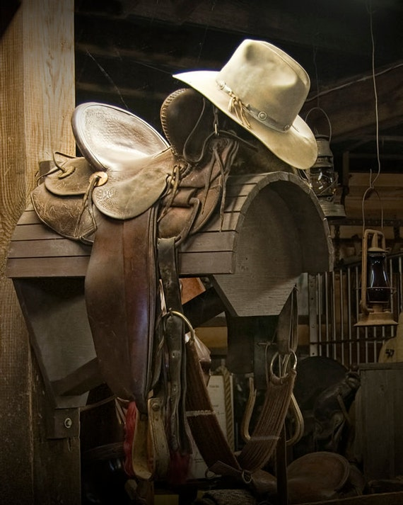 Western Horse Saddle and Cowboy Hat - a Still Life Photograph