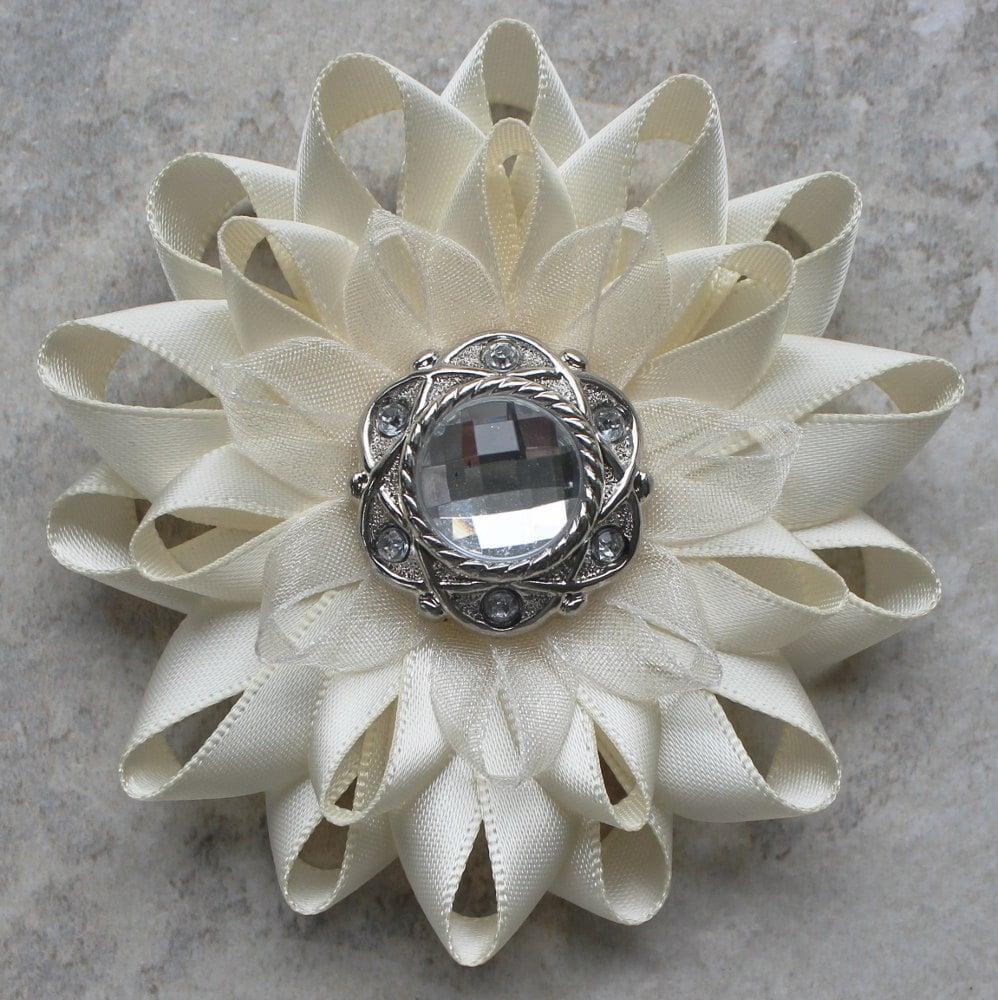 Ivory Corsage Ivory Flower Corsage Ivory Flower Pin Ivory