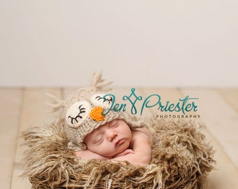 baby Owl Hat..  owl hat...knit hat.. photo prop..Photography prop ..Newborn photo prop...25% off at checkout with code SEPT1