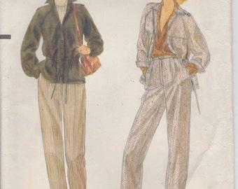 Pants Pattern Jacket Pattern Misses Size 12  uncut Vogue 7193
