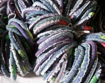 100 upcycled denim bracelets - repurposed jean bangles - made to order wholesale - One Hundred wedding favors