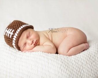 Newborn Football Beanie, Football Baby Hat,  Baby Boy Hat, Newborn Photo Prop Boy, Newborn Boy Hat