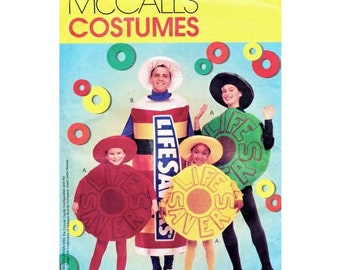 UNCUT OOP McCall's 9560 Or 381 Lifesavers Candy Costume Sewing Pattern For Kids Size 2-3-4-5-6-7-8