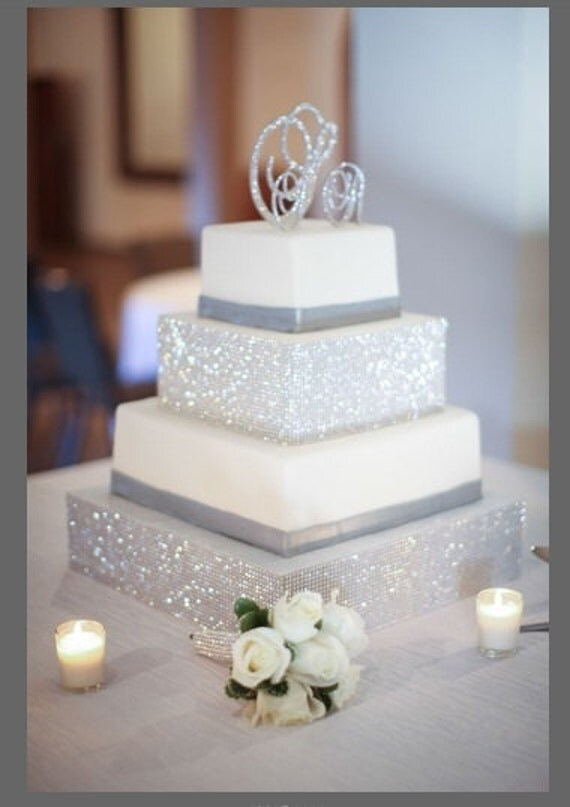 Crystal Monogram Cake Toppers Etsy