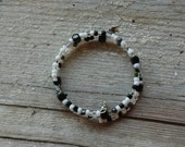 Salt and Pepper Sprinkle Double Loop Bracelet - Proceeds Benefit Cancer Research