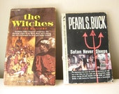1950s Vintage Pulp Books - The Witches and Satan Never Sleeps