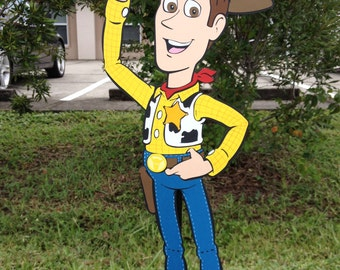 "Toy Story Birthday Woody Decoration 23"" XL Stand Up standee Party Prop, Toy Story Decor, Cowboy Cowgirl Party"