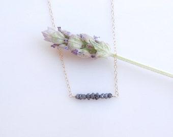 Black Diamond Necklace - Petite Jewelry