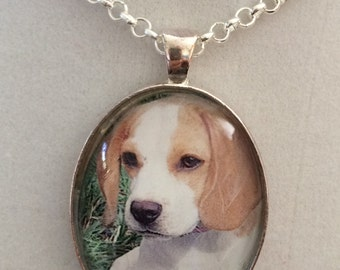Beagle Puppy Dog Pendant Necklace