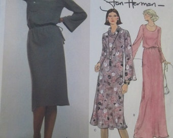 Vogue American Designer Original 1523 Stan Herman Dress Sewing Pattern Bust 34