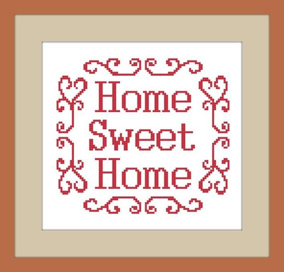 PDF cross-stitch pattern Home Sweet Home