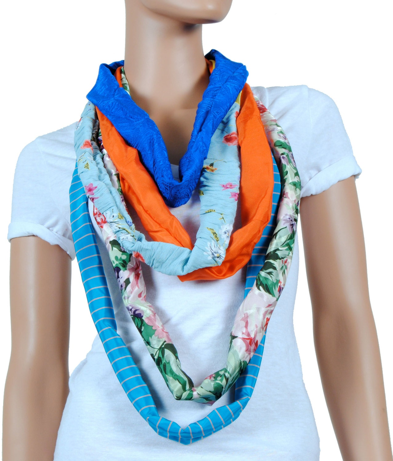 scarf infinity scarf womens chunky floral print and