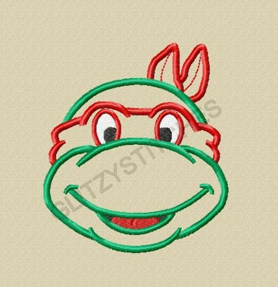 Ninja Turtle Face Outline New Design Head