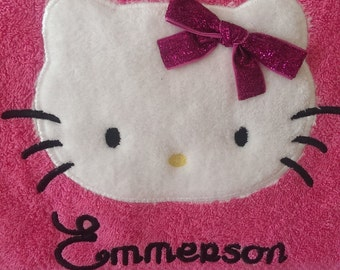 Hello Kitty Personalized Bath Towel