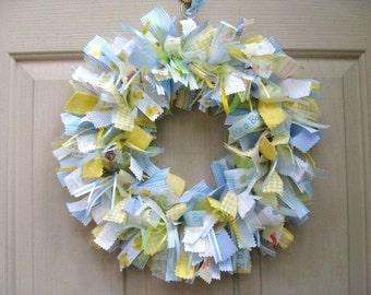 Baby Boy Wreath, New Baby Newborn Boy, Baby Boy Shower, Nursery Decor, Boys Room, Hospital Door Hanger Wreath, Welcome Baby, New Baby Gift