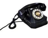 Antique Rotary Phone Monophone Black Bakelite Automatic Electric Vintage Art Deco Telephone AE-40 Model