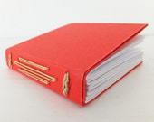 Mini Notebook, Pocket Notebook, Small Journal, Red Notebook