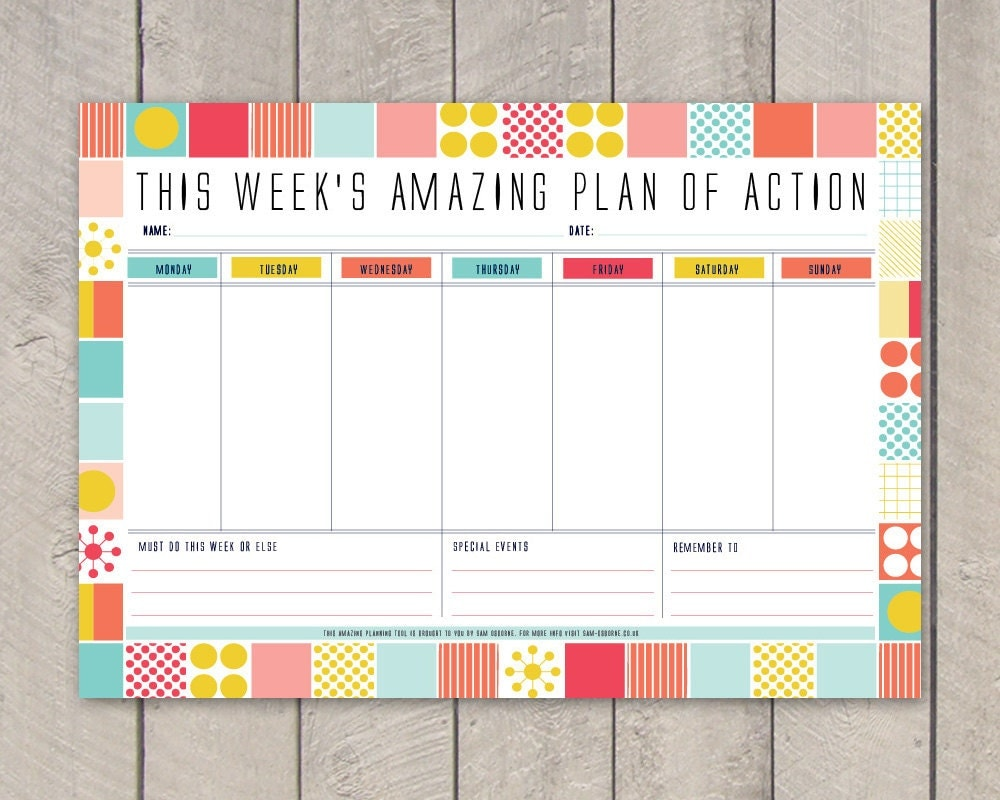 It is an image of Lucrative Weekly Organizer Printable